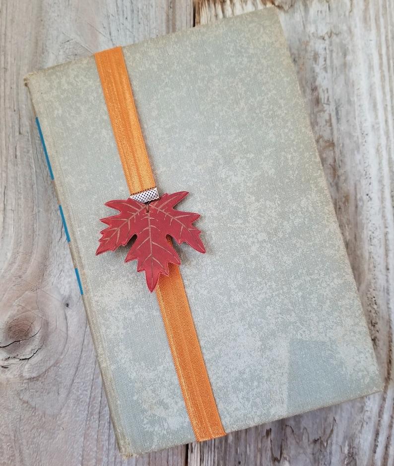 Leaf Book Band Autumn Maple Leaf Bookmark Fall Book Lover image 0