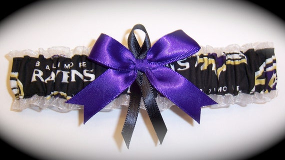 personalize now available upon request Pick Charm keepsake garter set BALTIMORE RAVENS handmade bridal wedding garter