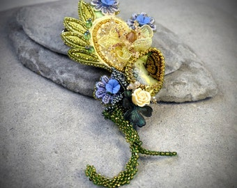 Gold Butterfly Hairpiece - Butterfly Hair Clip - wedding hair vine - gifts for wife - gifts for women wedding hairpiece gifts for wife