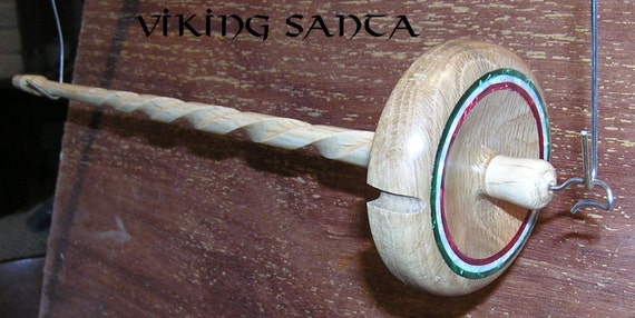 EDS 0842 Viking Santa Drop Spindle Leather whorle