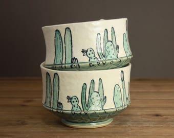 Cactus Garden Bowl  Succulents  Gift for the Gardener