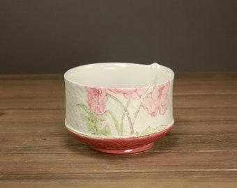Poppy Bowl  Garden Art  Home Decor  Summer Housewares  Gift for Garden Lover  Spring Art