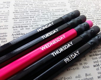 On Wednesdays We Wear Pink - Mean Girls Inspired Pencils - Set of 5