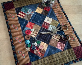 Easy Doll Quilt Pattern - Scrappy Four-Patch quilt