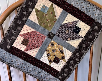 Small Quilt Pattern - Fall Flowers quilt