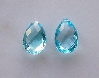 High Quality -  AAA Blue Topaz 12-14mm - 1 Pair