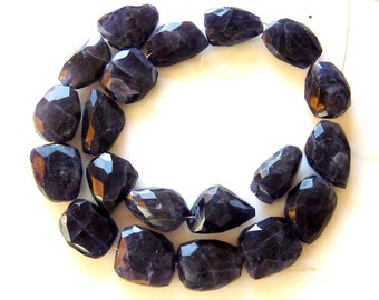 Water Sapphire Iolite Faceted Nuggets