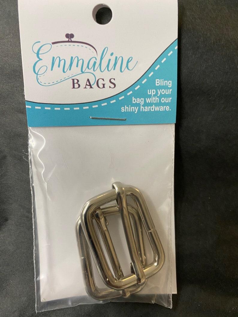 Emmaline Bags hardware 1 inch adjustable strap slider purse nickel