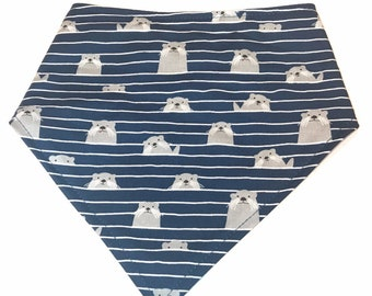 b7440b169ac6 Dog Bandana, Dog Scarf, Nautical Bandana, Otter Snap Dog bandana, dog gift,  dog bandana, dog accessory, pet lover gift, cat bandana
