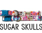 Dog Collar, Cat Collar, Sugar Skull Dog Collar, Halloween Cat Collar, Girl Dog Collar, Boy Dog Collar, Day of the Dead, Dia de los muertos