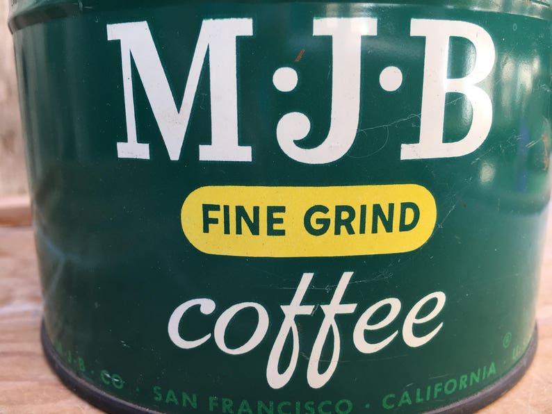 MJB Fine Ground Coffee Tin - Vintage from 1950's