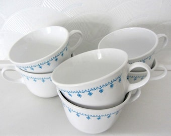 Corelle Livingware Blue Snowflake Cups, Set of Six