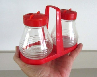 Androck Glass Salt and Pepper Shakers, Made in Canada