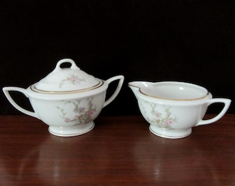 1950s Royal Jackson Sugar and Creamer Set in the Sandra Pattern