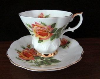 Royal Albert Sweetheart Roses Bone China Teacup And Saucer. Margaret Pattern