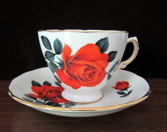 Royal Vale Bone China Tea Cup And Saucer Set By Ridgeway Potteries Ltd. Made In England