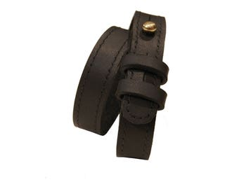 Double wrap leather bracelet - READY TO SHIP