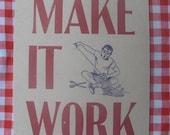 make it work letterpress postcard