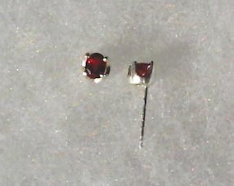 Genuine Songea Sapphire Gemstones in Argentium Silver Stud Earrings September Birthstone