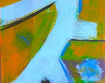 Running & Hiding / original abstract painting / come on go for it now you're almost there...... / 4857