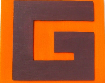 Gunfighter / original G painting / fun with the alphabet / 5074