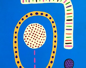 Do You See What I See? / original painting / 6053 / dot dot dot pathway to a vision