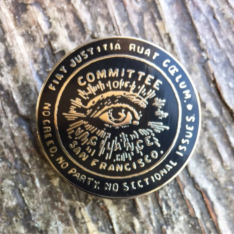 San Francisco Committee Of Vigilance 1.5 Inch Enamel Pin Badge image 0