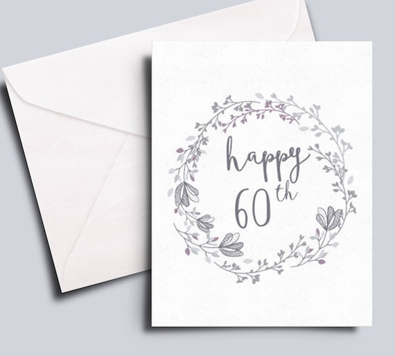 Happy 60th Birthday Card For A Friend Sister Colleague Mom