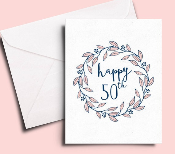 Happy 50th Birthday Card For A Friend Sister Colleague Mom