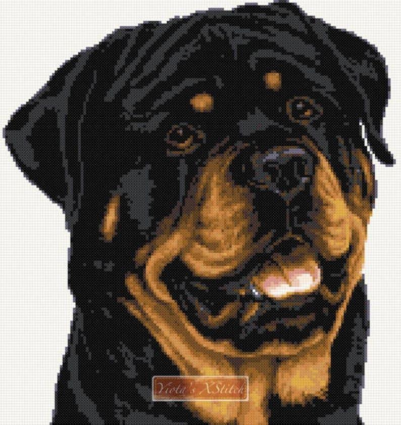 Cross Stitch Chart Kit Rottweiler Dog