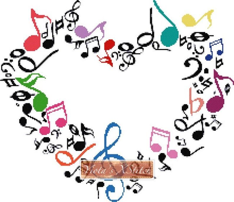 Coeur De La Musique Moderne Compte Kit De Point De Croix