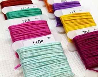 Madeira stranded cotton thread (2304 - 2886)