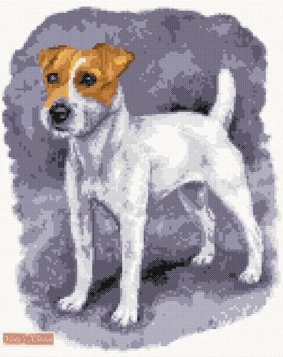 Kit Jack Russell Terrier Dog Cold Me 2 Cross Stitch Chart