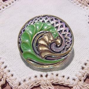 Caramel Apple Cider Swirls Tapered Vintage Glass Beads