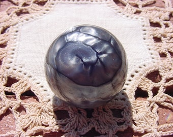 Cashmere Grey Satin Ginormous Vintage Lucite Focal Bead