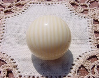 Ivorine Faux Ivory Vintage Lucite Focal Bead