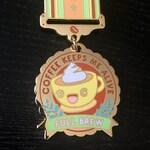 Coffee Keeps Me Alive Enamel Medal