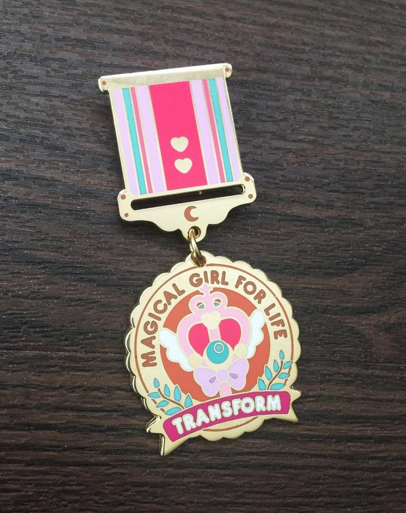 Magical Girl for Life Enamel Medal image 0