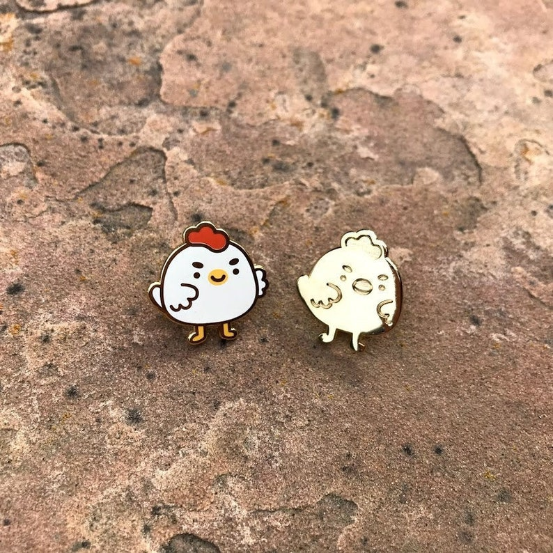 Chickbuns Mini Enamel Pin image 0