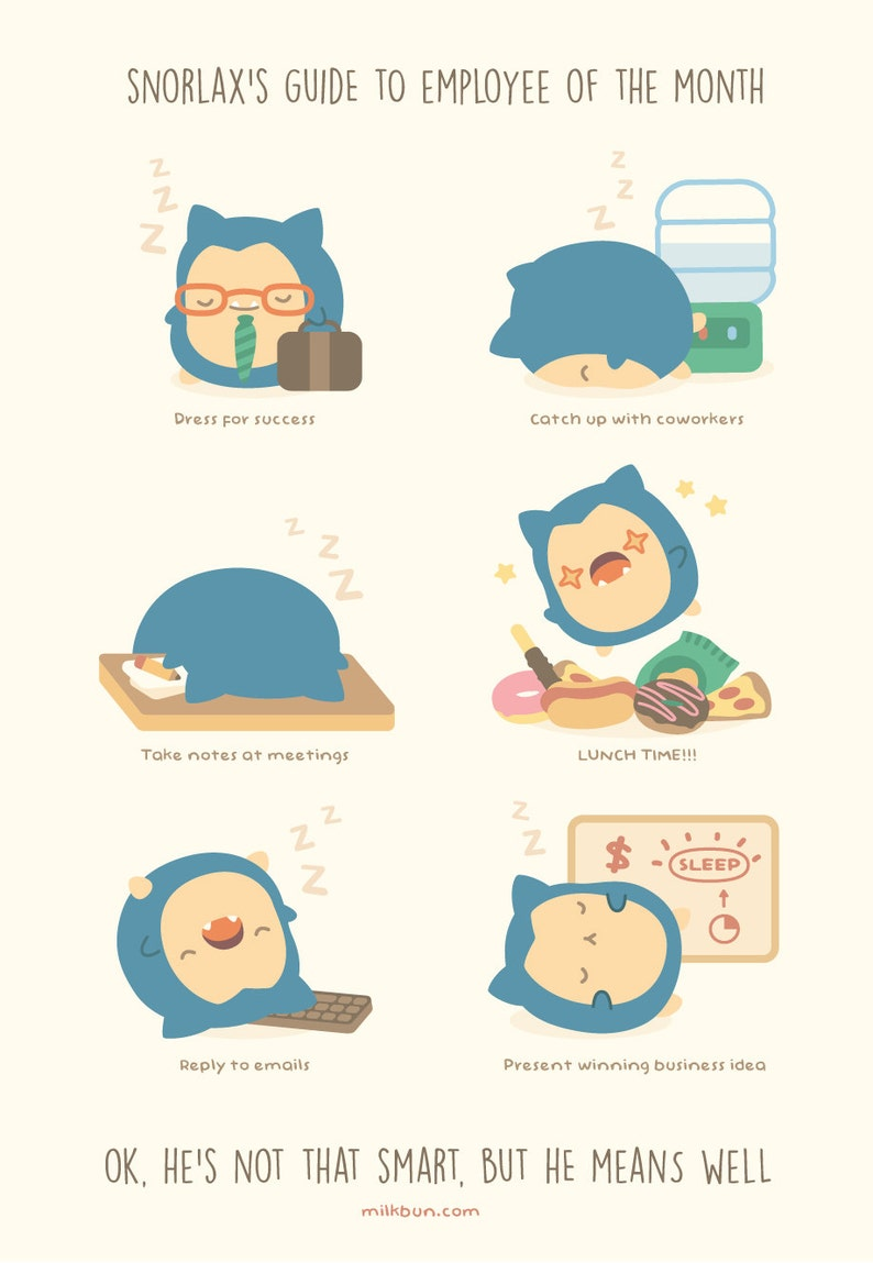 MINI Snorlax's Guide to Employee of the Month image 0