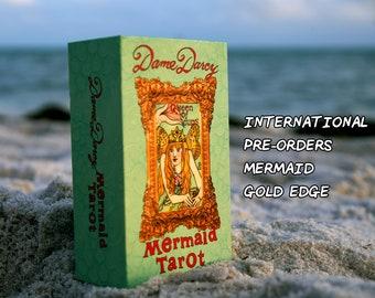 PRE-ORDER INTERNATIONAL | Mermaid Tarot | Gold Edge Edition | Dame Darcy | Tarot l Mermaid | Witch | Oracle | Reading | Tarot Deck