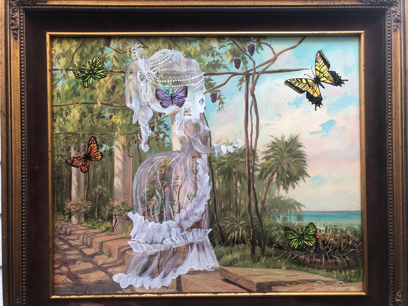 Rococo  Ghost  Painting  Southern Gothic  Painting Series image 0
