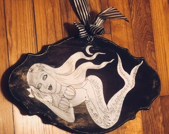 Gothic | Home | Black And White | Painting | Mermaid | Illustration | Comic Characters | Fine Art | Dame Darcy | Halloween