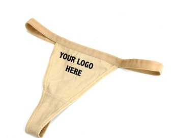 7db3b7eda6cc Cotton G-string/ Nude Cotton Thong/ Personalized Thong/ Your Logo Cotton G- string Fast Shipping