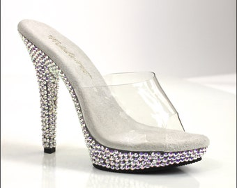 164008cecb84b Swarovski AB Rhinestone Heel Encrusted Competition Shoes   Bikini Figure  Competition Shoes   5