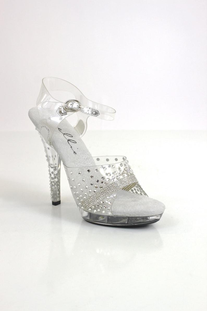 20569e716cd Ellie Clear Crystals Sandal   Bikini Figure Competition Shoes