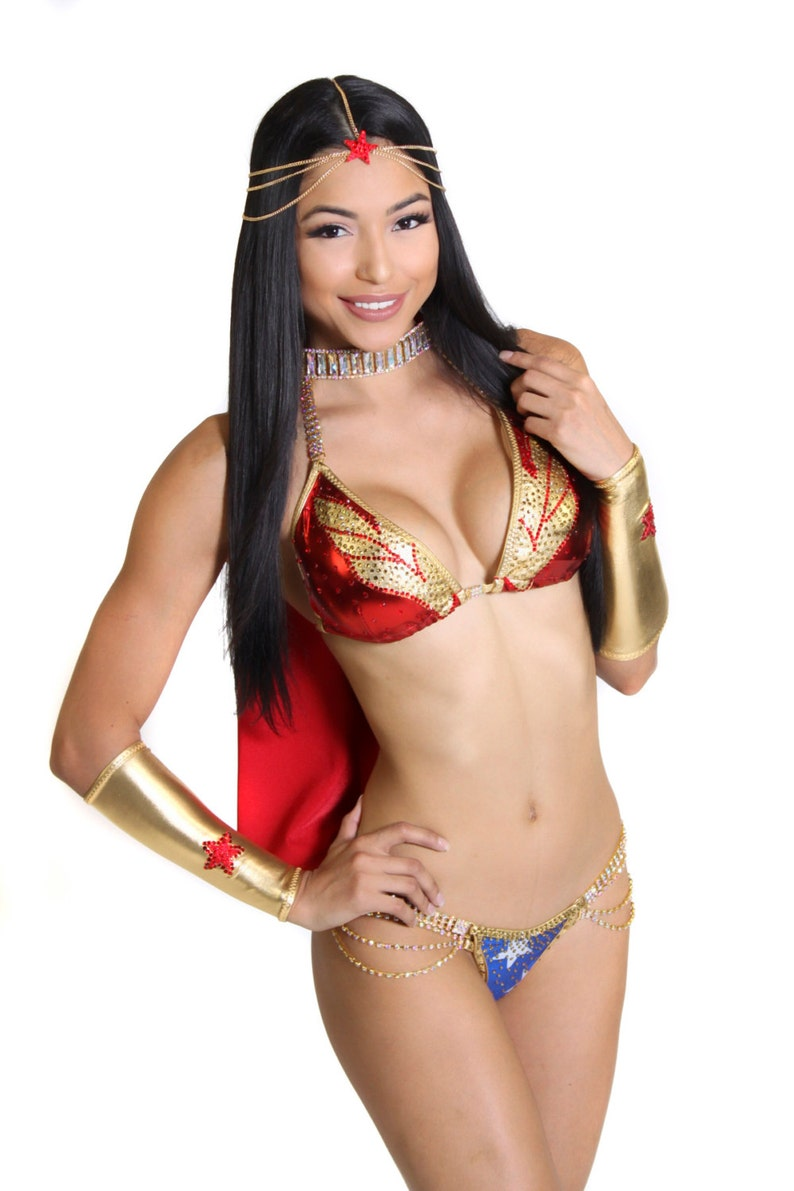 c7e3b0552761d NPC IFBB Competition Bikini   Wonder Woman   Custom Crystal