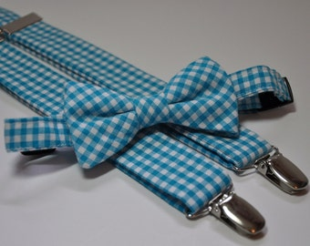 Lime Green Seersucker Bowtie And Suspender Set For Boys Etsy