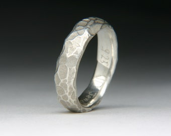 Silver Cobble Ring
