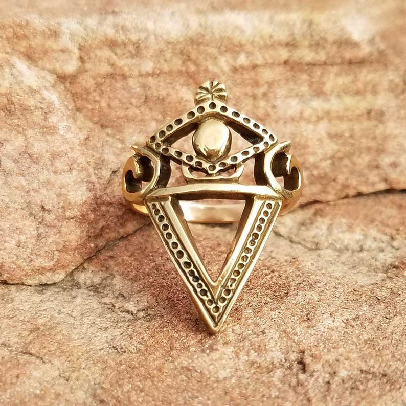 LA SIRENE RING - Voodoo Vodou Loa Lwa Veve in 925 Sterling Silver - Made To  Order in Your Size